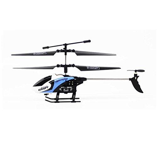 Mini-Maschine mit gyroscopes Mamum RC 3CH Mini-Hubschrauber Radio Fernbedienung Flugzeug Micro-LED - Einheitsgröße blau