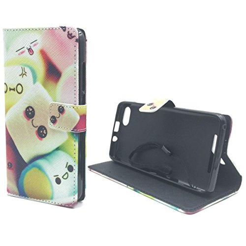 Housse Ordinateur Portable style cadre Flip Cover Case Étui de protection Motif Wallet Marshmallows
