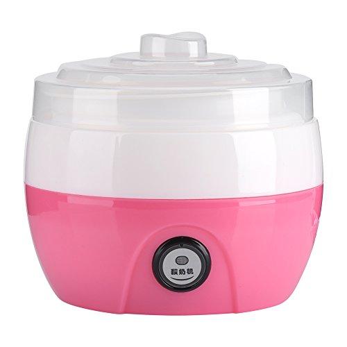 220V 1L Macchina yogurt automatico fatto in casa Maker Yogurt elettrico crema rendendo macchina Yogurt strumento fai da te(Rosa)
