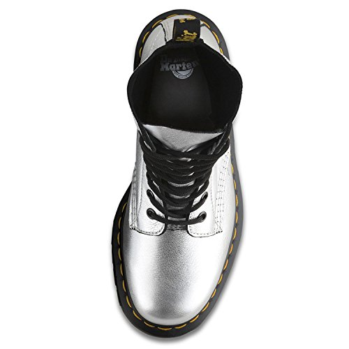 Dr Martens Damen Silber Santos Pascal Stiefel White/Metallic Silver