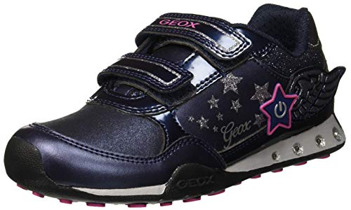 Geox Mädchen JR New Jocker Girl A Sneaker, Blau (Navy/Fuchsia C4268), 34 EU - Geox Jocker Girl