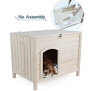 Petsfit Niche intérieure en bois pour petits chiens 102cm x 53cm x 61cm Installation en une étape