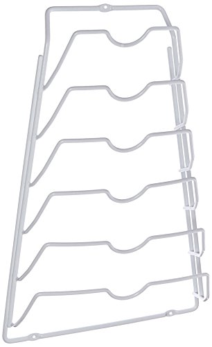 'Organize It All' Kabinett-T?r-Klappen-Zahnstange - White Metal Plate Rack