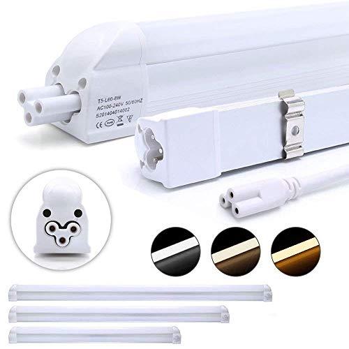 Auralum 2er Pack T5 G5 LED Leuchtstoffröhre 90cm 12W 1100lm Recyclebare LED Röhre mit Fassung warmweiß (2800-3200K) LED Tube