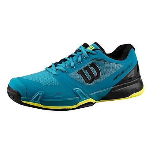 Wilson Rush Pro 2.5, Zapatillas de Tenis para Hombre, Azul (Enamel Blue/Black / Safety Yellow 000), 45 1/3 EU
