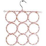 Tied Ribbons Foldable 9-Circle Ring Plastic Hanger