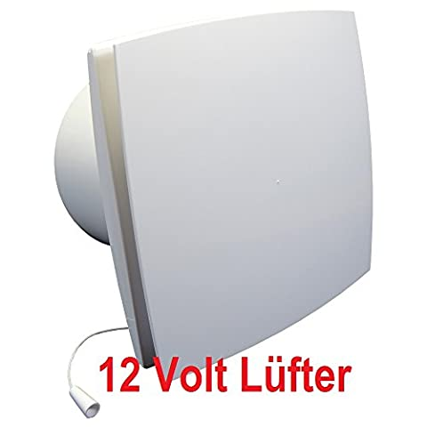 Badlüfter 12V,Lüfter,Kleinlüfter,Ventilator,WC-Lüfter,Belüftung,dalap®