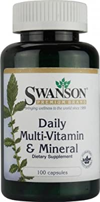 Swanson Daily Multi-Vitamins & Minerals (100 Capsules) from Swanson Health Products