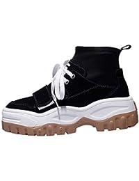 Gtagain Informal Plataforma Zapatillas de Deporte - Deporte Estilo Harajuku Hip  Hop Entrenador Moda Parte Superior a815d3bc2ef