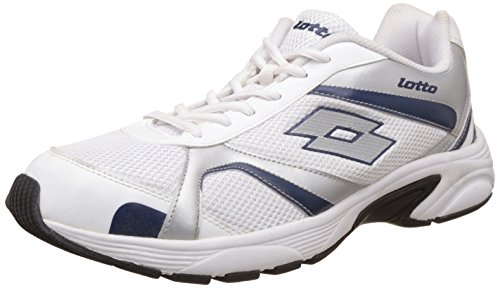 Lotto Men's Crator White And Navy Mesh Running Shoes - 7 UK/India (41 EU)