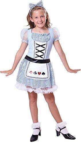 Fancy Me Mädchen Paillette Alice im Wunderland Büchertag Woche Film Halloween Kostüm Kleid Outfit 4-12 Jahre - 4-6 Years (Wunderland Im Film Kleid Aus Alice Dem)
