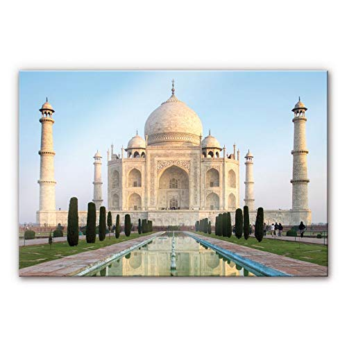 Acrylglasbild Taj Mahal Indien Mausoleum Grabgebäude Kuppel Marmor orientalisch Wall-Art - 100x70cm