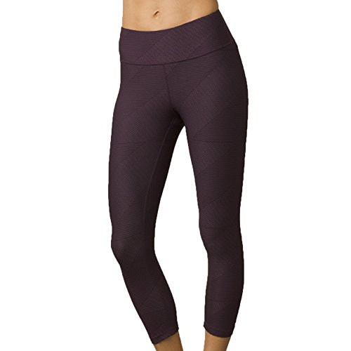 Prana - Damen Misty Capri, Damen, Dark Plum Geo, XX-Large Prana-capri-leggings