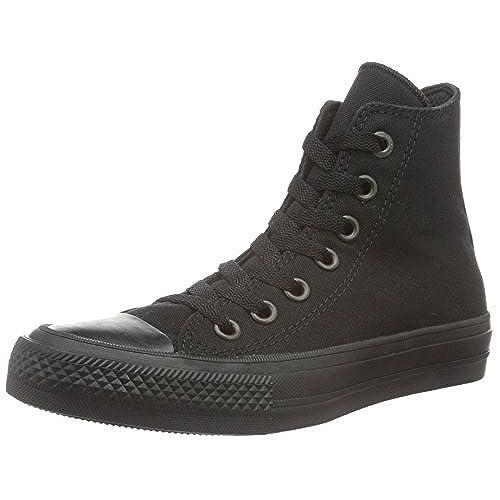 Converse Unisex Adults Chuck Taylor All Star Ii Hi-Top Sneakers, Black ( Black/Black/Black), 11 UK 45 EU