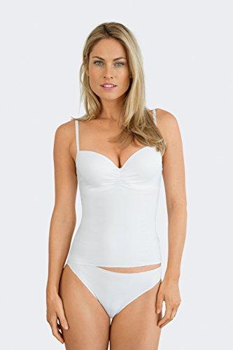Nina von C. Damen BH-Top, Secret, Farbe Weiss, Size 85A - Damen-mikrofaser-bügel-hemdchen