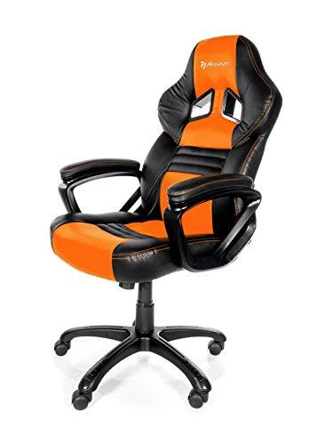 Arozzi Monza Orange – Silla (Negro, 150 kg, 125 cm, 115 cm, 53 cm, 51 cm)
