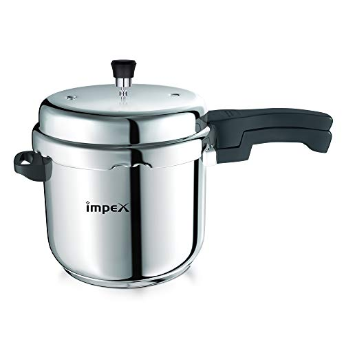 Impex Prima 5 Stainless Steel Pressure Cooker, 5 Litres, Silver