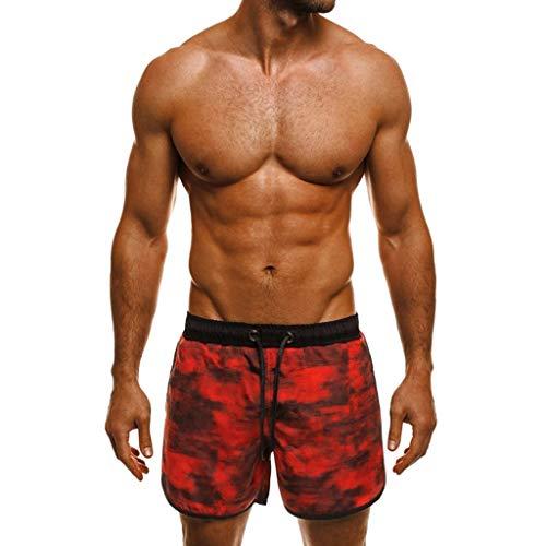 ❤️Bañador Trajes de Baño de Camouflage de Hombres de Natación Pantalones Cortos para Tabla Bermuda...