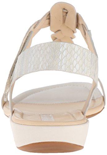 ECCO Bouillon Sandal Ii, Scarpe Col Tacco con Cinturino a T Donna Bianco(White/White-Silver Metallic 59730)