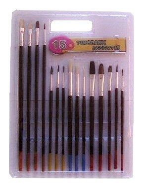 15-teiliges Pinsel-Set, für Malerei / Dekoration, Künstler Maler Hobby Modellbau Freizeit