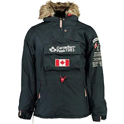 outlet store b986f 4890f Canadian Peak Abrigo Negra Unisex NIÑO Y NIÑA 10 AÑOS