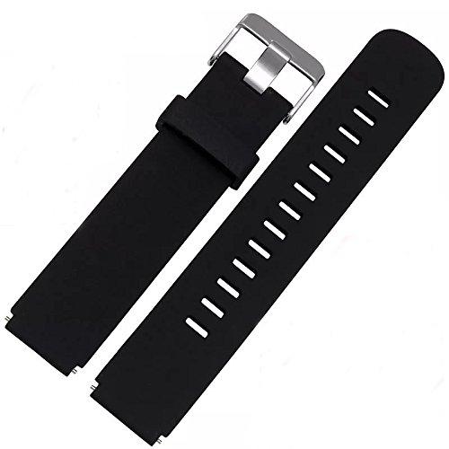 18 20 22 mm Soft Silikon Armband, Uhrenarmband, Weiche Gummi Uhr band Ersatzarmband für Herren / Damen uhren. Schwarz, Rot, Blau, Grün, Grau, Weiß. 1 Stück / 3 Stück (Gummi-unterseite Weiche)