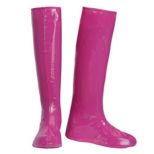 NET TOYS GoGo Schuhüberzieher Stiefel-Überzieher | Pink | Aufreizendes Damen-Kostüm-Zubehör Stulpenstiefel Überschuhe | Perfekt geeignet für 90er-Party & Straßenkarneval