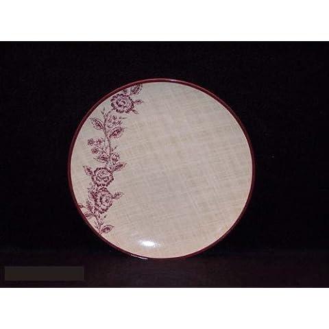 Noritake Tapiz Rose–Plato para ensalada, Coupe forma