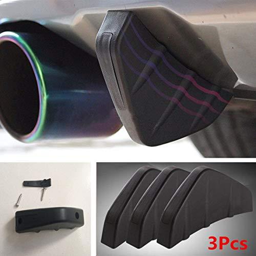 Preisvergleich Produktbild FidgetGear Universal-Diffusor für Heckstoßstange,  Schwarz,  PVC,  Anti-Crash,  3 Stück