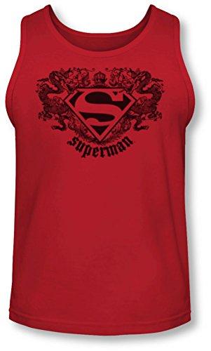 Superman - - Herren Drache Tank-Top Red