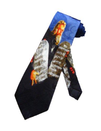 Steven Harris Männer Zehn Gebote Moses Krawatte - schwarz - Einheitsgröße
