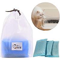 Augproveshak - Juego de 3 arenero de carbón Activado para desodorización de Gatos, para desodorizar, Desodorante y eliminación de olores