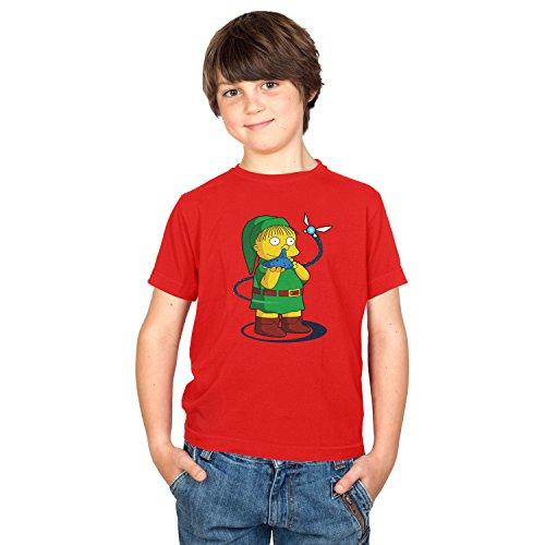 NERDO - Nose Flute - Kinder T-Shirt, Größe S, (Kostüm Bender 2017)