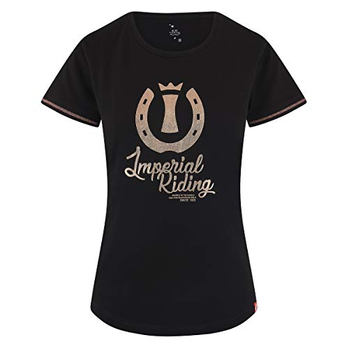 Imperial Riding T-Shirt Starling Print glänzend (L, Black) -