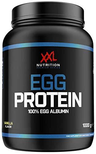 XXL Nutrition Egg Protein   Ei Eiweiß Fettfrei - Nur 0,2 Gramm Zucker   1000g (Neutral)