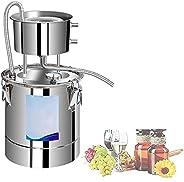 جهاز تقطير من الفولاذ المقاوم للصدأ 304، سعة 10 لتر-50 لتر لا يزال مع مقياس الحرارة، معدات إنتاج المياه المقطر