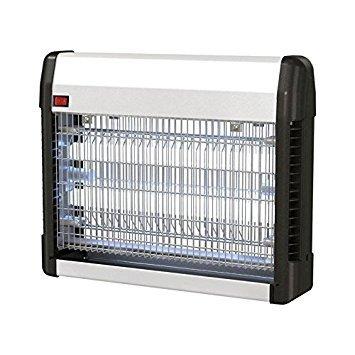 Guard'n care Insektenvernichter Insektenlampe mit UV-Lampe 23 W und 120 m² Reichweite, grau/silber, 36 x 9 x 28.8 cm - Insect Guard