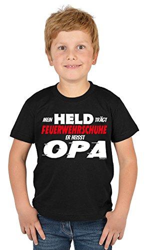 feuerwehrschuhe kinder Vatertag Shirt : Mein Held trägt Feuerwehrschuhe : Opa und Enkel Dress