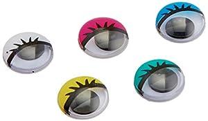 Darice Wiggle Eyes, Multicolor alfonbrilla para ratón