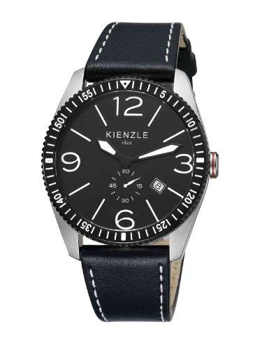 Kienzle K8041123011-00139 - Reloj analógico de cuarzo para hombre con correa de piel, color negro