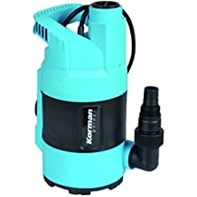 Korman 500361 Bomba submergible para aguas limpias (400 W, flotador integrado) Azul