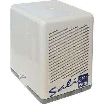Salin S2 - Natursalz Luftfiltersystem, Salzlufttherapie Gerät, Pollenfilter, Staubfilter, Luftreiniger, Weiß