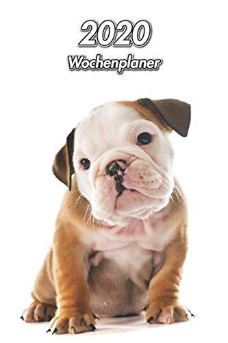2020 Wochenplaner: Englische Bulldogge Welpe | 107 Seiten, 15cm x 23cm ca. A5 | Taschenkalender | Terminplaner | Tagebuch | Terminkalender | Organizer für Hundeliebhaber