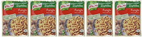 Knorr Spaghetteria Funghi Fertiggericht Pasta (in Pilz-Sauce) 5 x 150 g