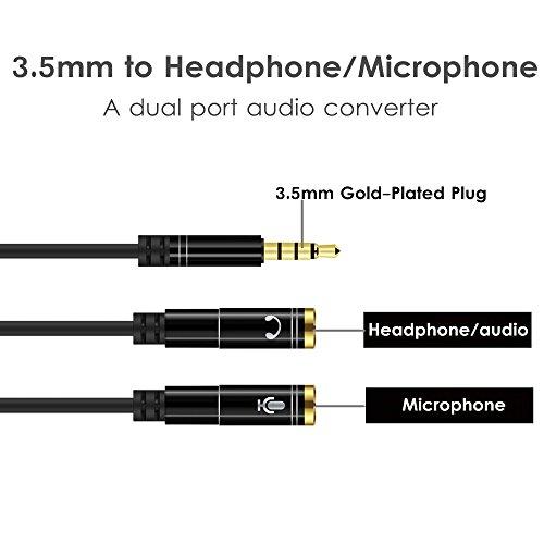ADATTATORE connettore Jack M 2.5 a Jack F 3.5 stereo cuffia microfono pc audio c