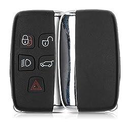 kwmobile Gehäuse für Land Rover Jaguar Autoschlüssel - ohne Transponder Batterien Elektronik - Auto Schlüsselgehäuse für Land Rover Jaguar 5-Tasten Funk Autoschlüssel