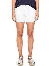 s.Oliver RED LABEL Damen Smart Short  Shorts mit kurzen Fransen 962c20386b