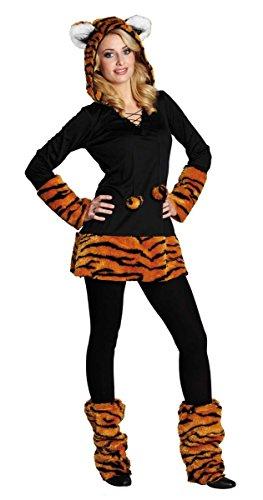 Rubie's Damen-Kostüm Tiger-Kapuzenkleid, Gr. ()