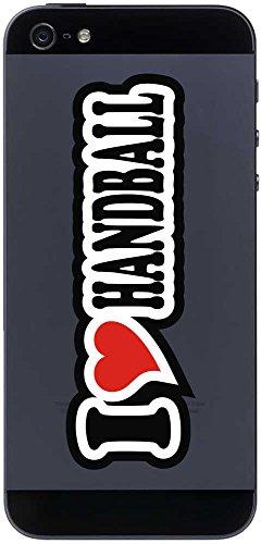 I Love Heart Aufkleber Decal Sticker Handyaufkleber Handyskin 70 mm I LOVE HANDBALL