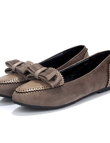 Shangyi Gyht Chaussures Femme-ballerines-casual-rounded Flat-faux Cuir-bleu / Bourgogne / Tissu Amande Amande